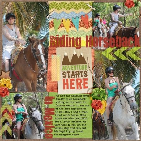 Horseback riding in Mexico