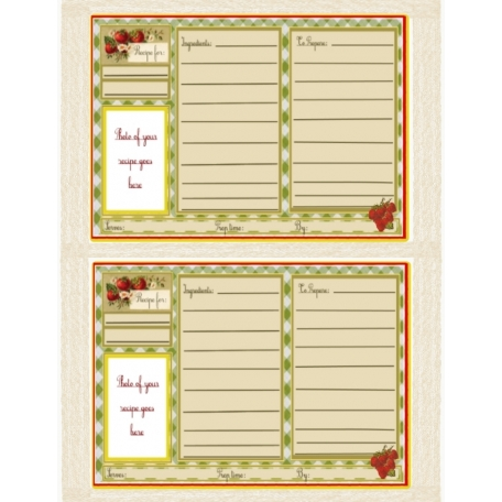 A little recipe card I laid out today.
