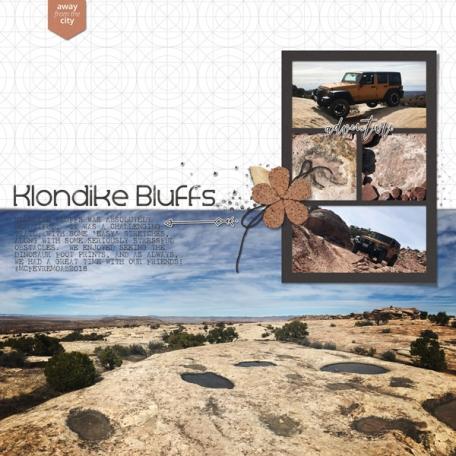 Klondike Bluffs   Moab March 2018