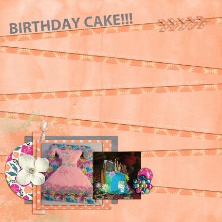 4th Birthday, Birthday cakes