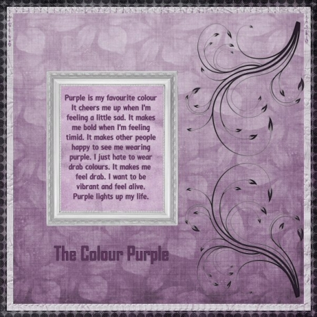 The colour purple