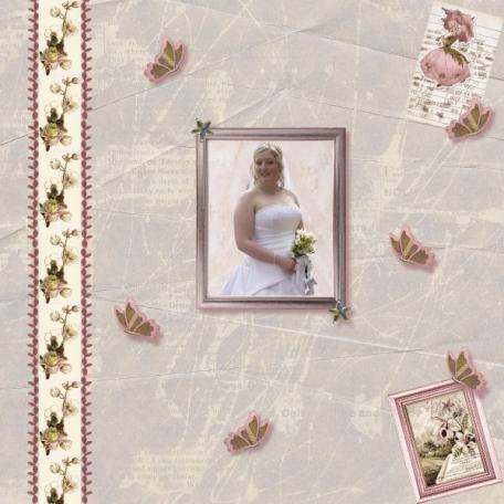 Charlie on her wedding day