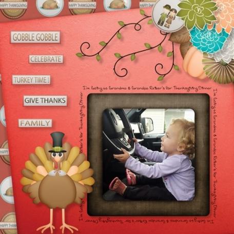 Aliya going to Grandmas for Thanksgiving