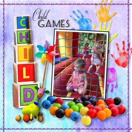 Child games bounce house Maya