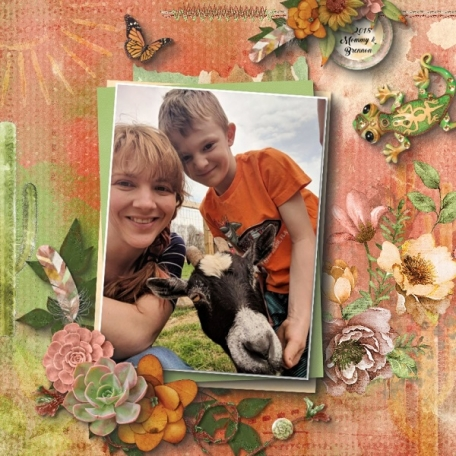 Mommy and Brennon glitters
