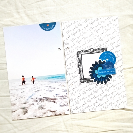 brothers playing in sand hybrid scrapbooking layout