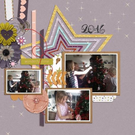 decorating the tree 2016