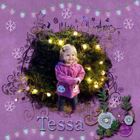 Tessa with lights