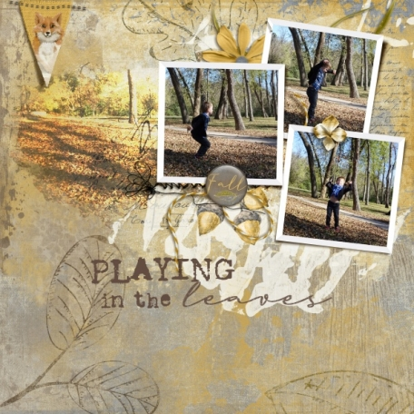 Playing in the leaves (Deeply Rooted)