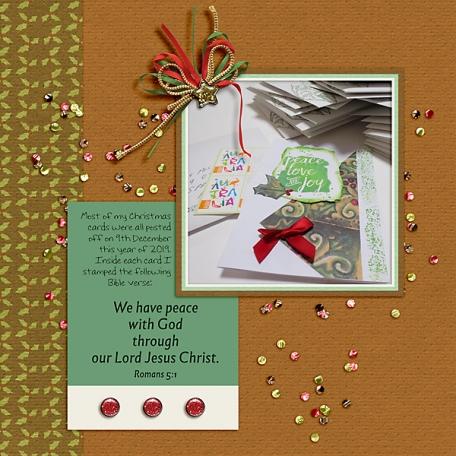 Peace inside Christmas Cards