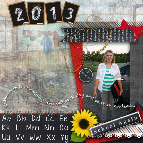 School Again page from my Designer Challenge Kit