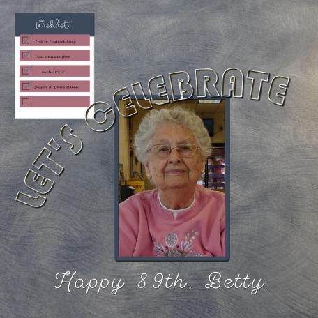 Betty's 89th