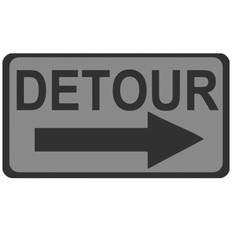 Detour Sign Template