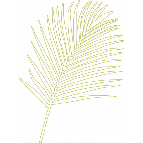 Palm Branch Outline 01 - Template