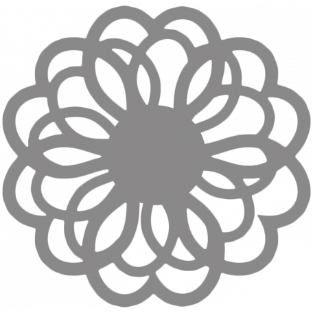 Flower Doily Shape Template