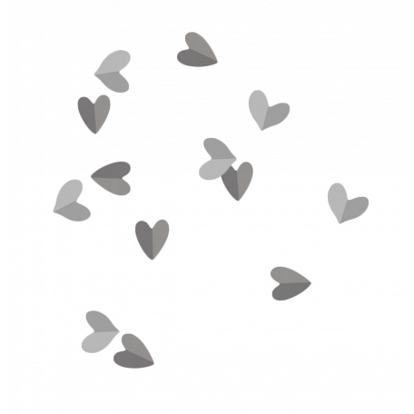 Folded Hearts Scatter Template