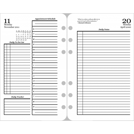 Daily Planner Page Template