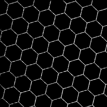 Hexagon Cutout Shape Mat 01