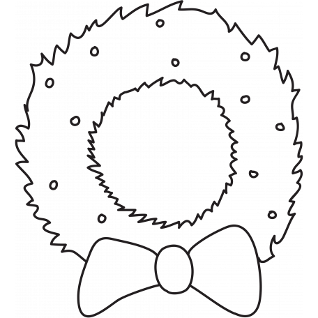 Deck The Halls - Wreath Illustration