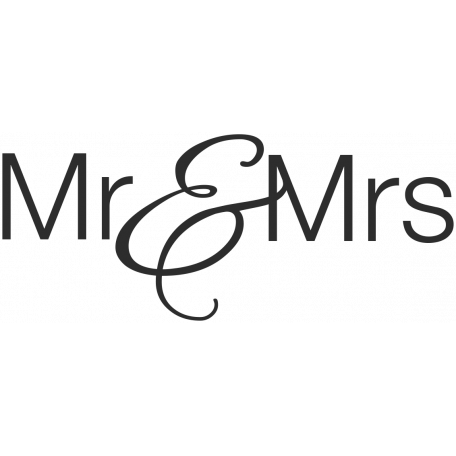 Wedding Words - Mr & Mrs