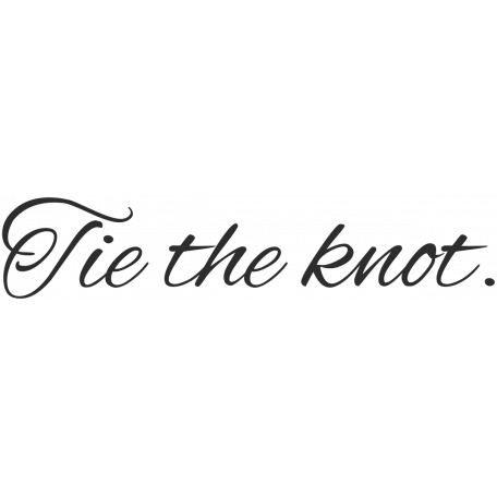 Wedding Words - Tie The Knot