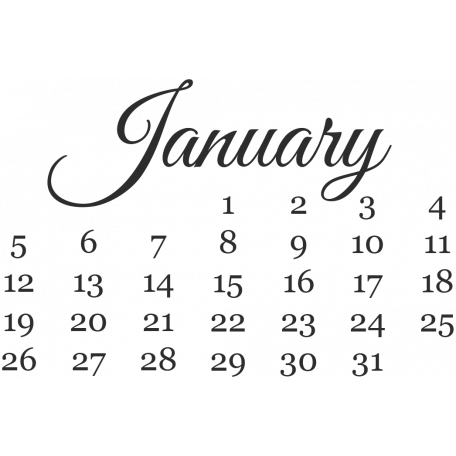 Dates - January Mini Calendar