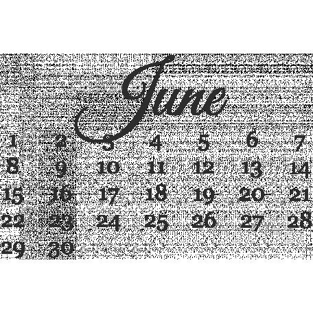 Dates June Mini Calendar Graphic By Marisa Lerin Pixel