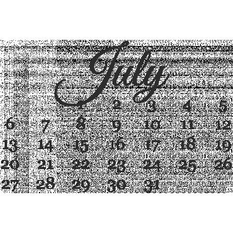 Dates - July Mini Calendar