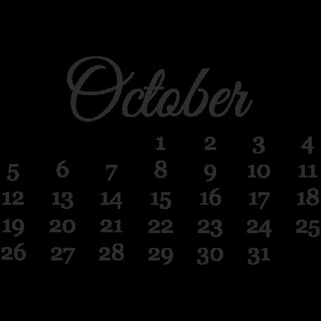 Dates October Mini Calendar Graphic By Marisa Lerin Pixel