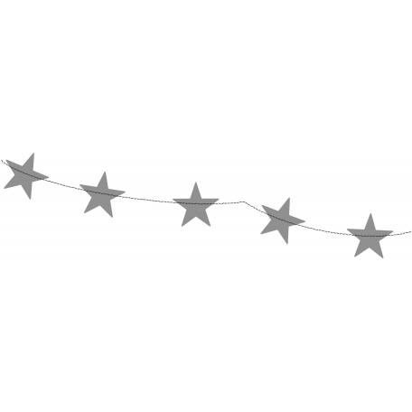 Bunting 001 Stars Template