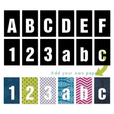 Cutout Alpha - Sans Serif