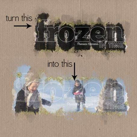 Frozen - Layered Photo Mask