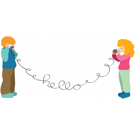 Boy & Girl Phonecall Template