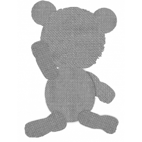 Burlap Teddy Bear Template