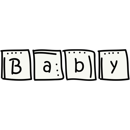 Baby Blocks Doodle Template