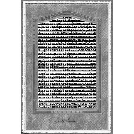 Vintage Paper Frame Template 001
