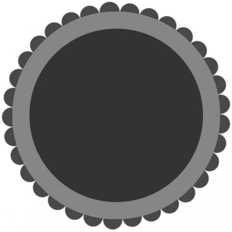 Layered Scalloped Sticker Template 001