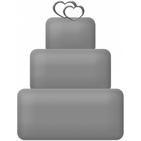 Layered Wedding Cake Template 01