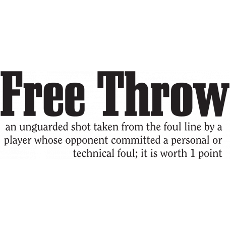 Basketball Word Art Free Throw