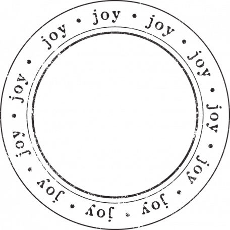 Enchanted - Joy Circle Stamp