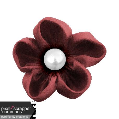 ::Winter Fun Kit:: Satin Fabric Flower w/ Pearl