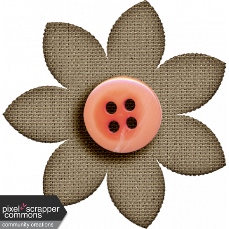 ::Winter in the Tropics Kit:: Burlap Flower w/ Button Accent