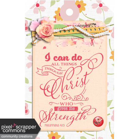 Bible Verse Tag Philippians 4:13