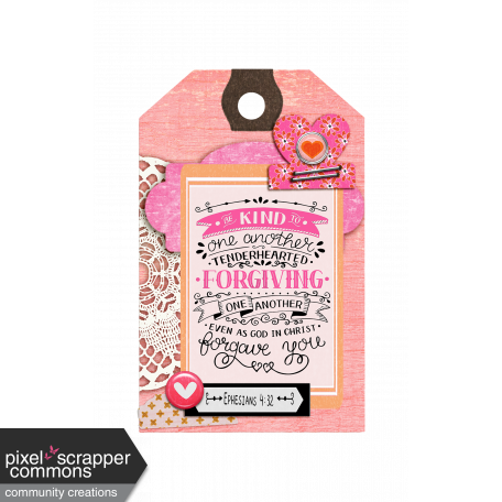 Be Kind and Forgiving Bible Journal Tag