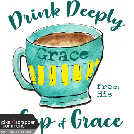 Turquoise Yellow Cup of Grace