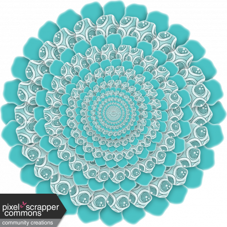 Purple And Turquoise Circle Paper Flower 02