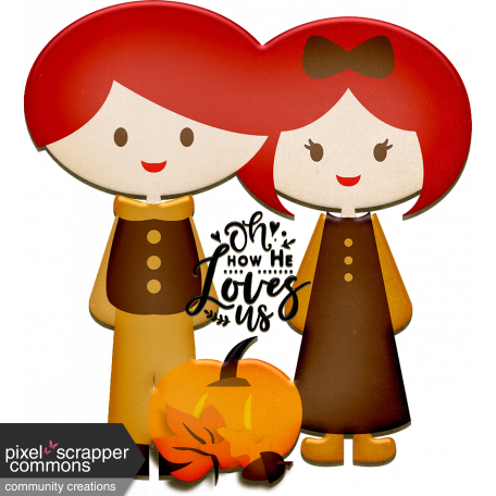 Oh How He Loves Us Autumn Chipboard Couple