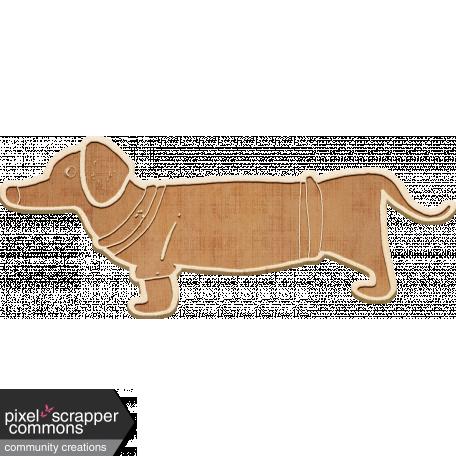 Etched Wood Dachshund Dog