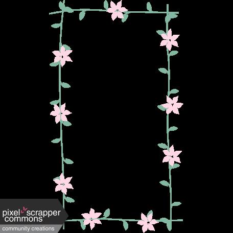 Love Story Flower Frame