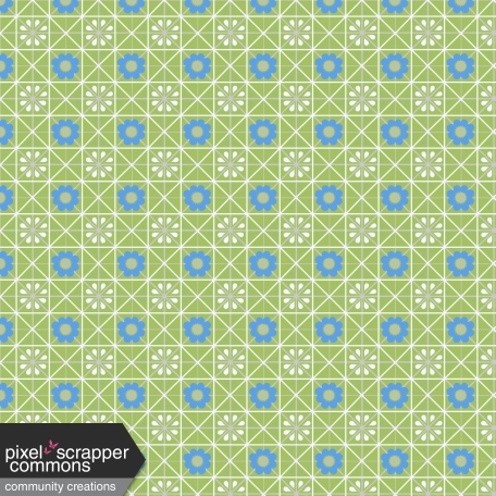 Sweet Days Lined Checkered Flower Pattern Paper 4